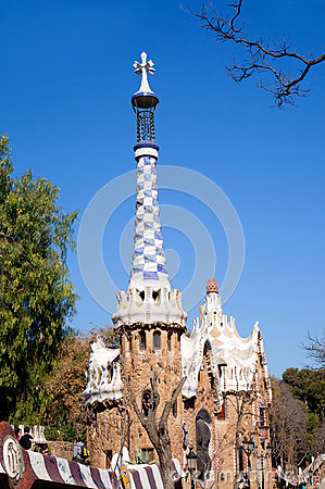 Barcelona Park Guell Gingerbread House of Gaudi