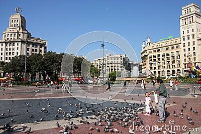 Barcelona - Placa Catalunya Editorial Image