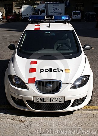 Barcelona Police Editorial Stock Image