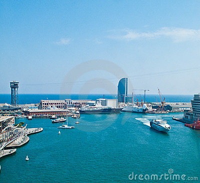 Barcelona port Editorial Image
