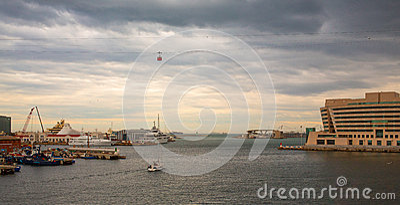 Barcelona Port Cruisers Terminal stormy sky