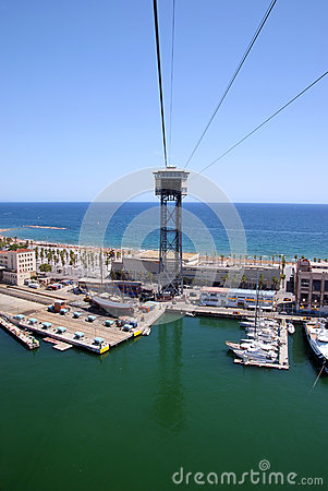 Barcelona port II Editorial Stock Image