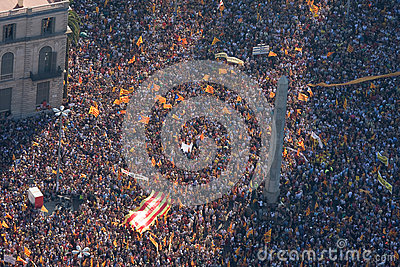 Barcelona rally for independence Editorial Stock Photo