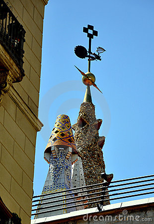 Free Barcelona Roof Decoration Stock Image - 11068611