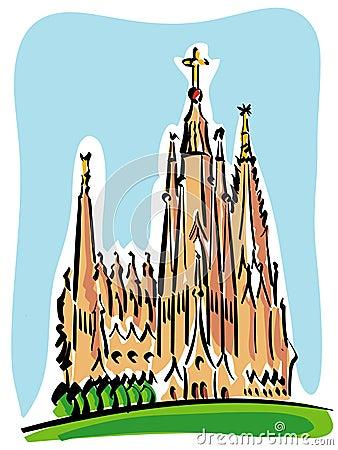 Barcelona (the Sagrada Familia)