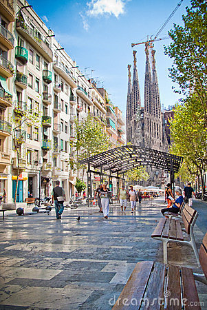 Barcelona, Sagrada Familia Editorial Image