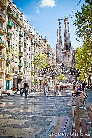 Barcelona, Sagrada Familia Redactionele Afbeelding