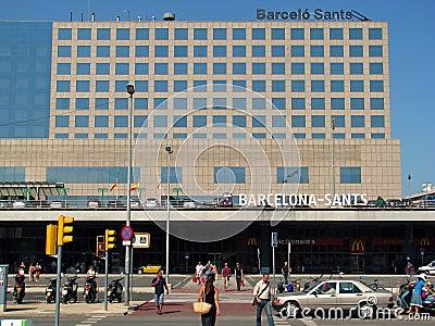 Barcelona Sants train station Editorial Photography