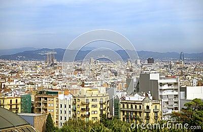 Barcelona Skyline with Sagrada