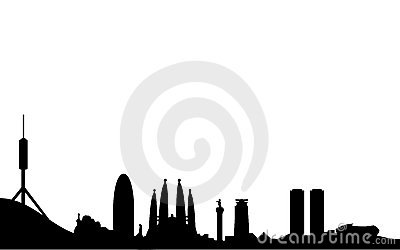 Barcelona skyline silhouette