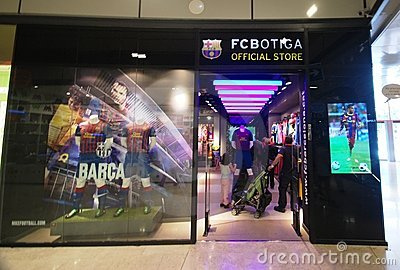 Barcelona soccer official store Editorial Photography