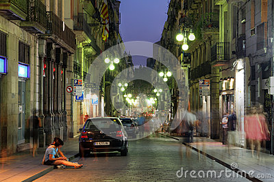 Barcelona, Spain Editorial Stock Photo