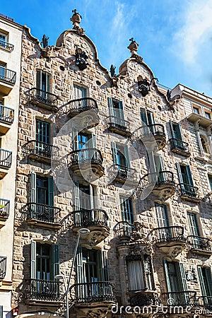Free Barcelona, Spain - April 18, 2016: House Facade Casa Calvet, Designed By Antonio Gaudi Stock Photography - 78964032