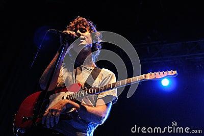 Luke Jenner, singer of The Rapture band Editorial Image