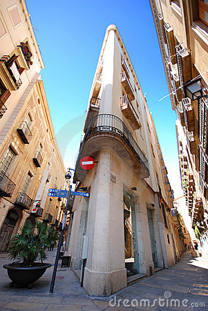 Free Barcelona Street Royalty Free Stock Photo - 3576925