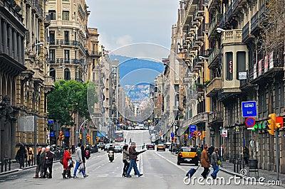 Barcelona street Editorial Stock Photo