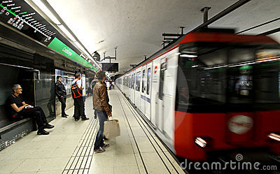 Barcelona Subway Editorial Stock Photo