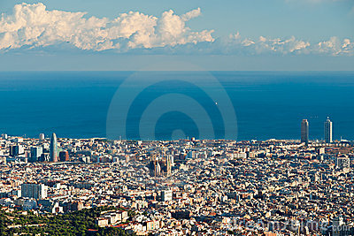 Barcelona from Tibidano, Barcelona, Spain.