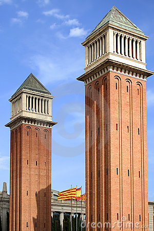 Free Barcelona Towers Stock Photography - 1166562
