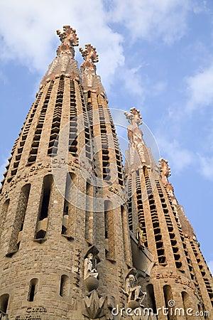 Free Barcelona - Towers Sagrada La Familia Stock Images - 9959444