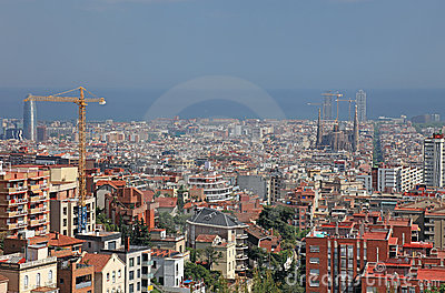Barcelona view, Spain.