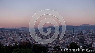 Barcelona Vista de la ciudad almacen de video