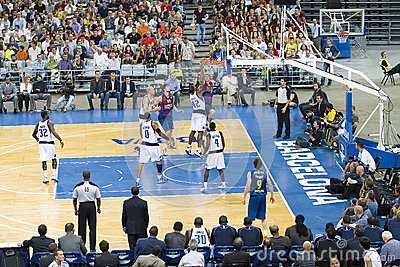 Barcelona vs Dallas Mavericks Editorial Stock Image