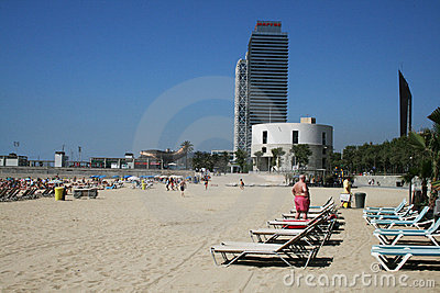 Barceloneta Editorial Stock Photo