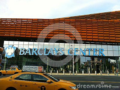 Barclays Center in downtown Brooklyn Editorial Stock Image