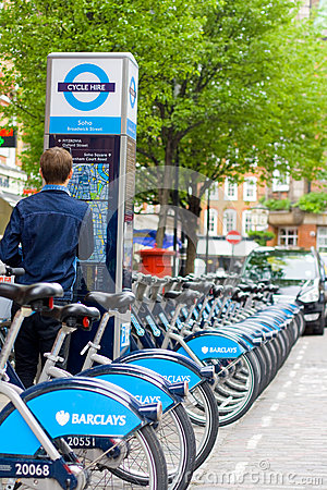 Barclays cycle hire Editorial Photography