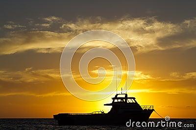 Barco ancorado