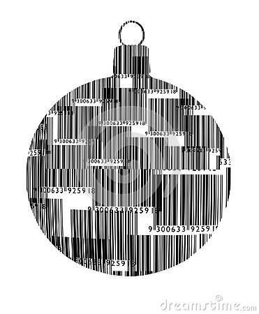 Free Barcode Christmas Ornament  Stock Image - 34765021