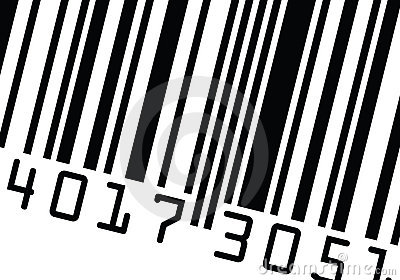 Barcode close up vector