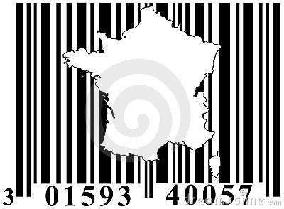 Barcode with France outline