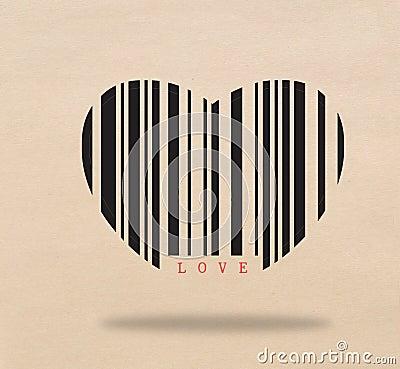 Barcode heart