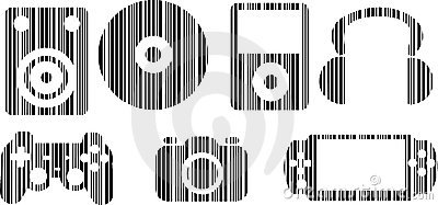 Barcode Home Entertainment Icon Set
