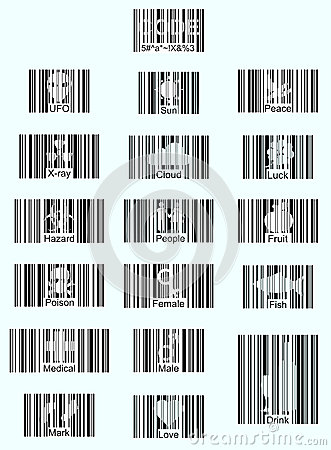 Free Barcode Icons Royalty Free Stock Photo - 28421345