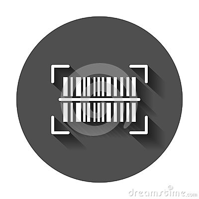 Free Barcode Product Distribution Icon. Vector Illustration With Long Royalty Free Stock Image - 117123036