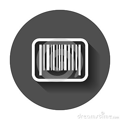 Free Barcode Product Distribution Icon. Vector Illustration With Long Royalty Free Stock Photography - 117123037