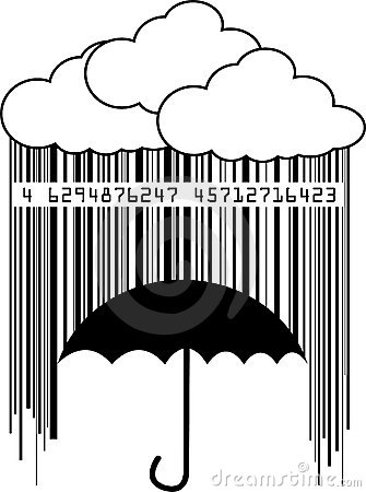 Free Barcode Rain Royalty Free Stock Photography - 5309547