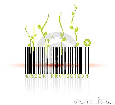 Barcode and reader beam