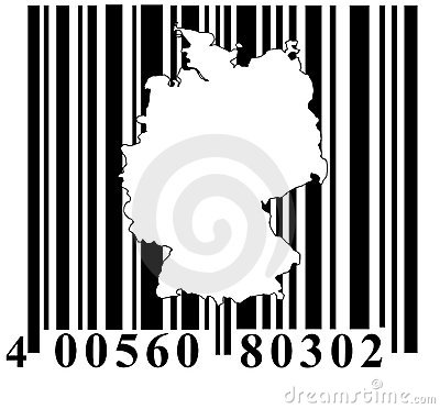 Free Barcode With Germany Outline Royalty Free Stock Photo - 7020775