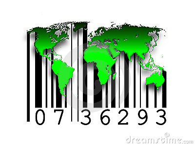 Barcode world maps