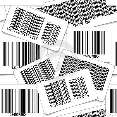 Barcodes monochrome seamless background