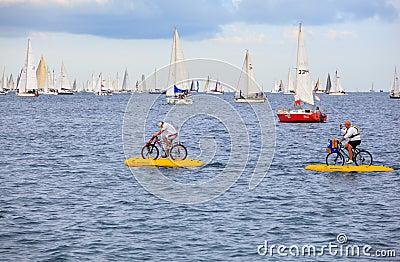 Barcolana regatta i Trieste Redaktionell Bild