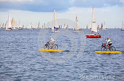 Barcolana regatta in Trieste Editorial Photo