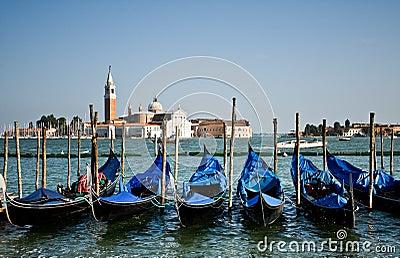 Barcos da gôndola, Veneza