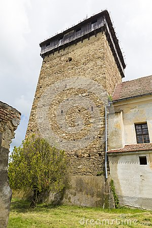 Free Barcut Fortified Church - Bell Tower Royalty Free Stock Photos - 106620838