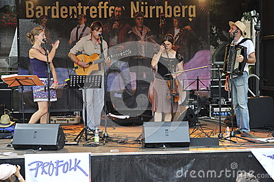 Bardentreffen in Nuremberg, Germany Editorial Stock Image