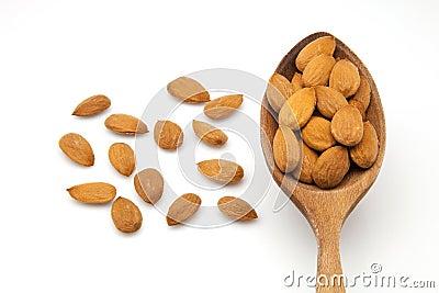 Bare almonds